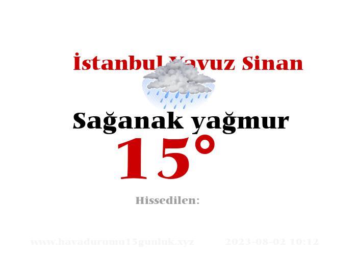 İstanbul Yavuz Sinan Hava Durumu