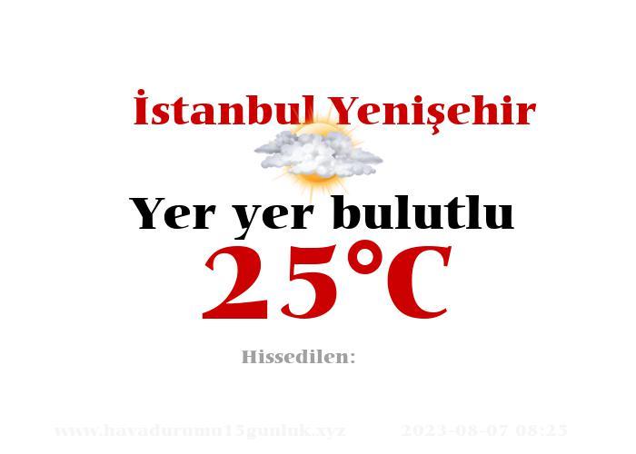 Hava Durumu İstanbul Yenişehir