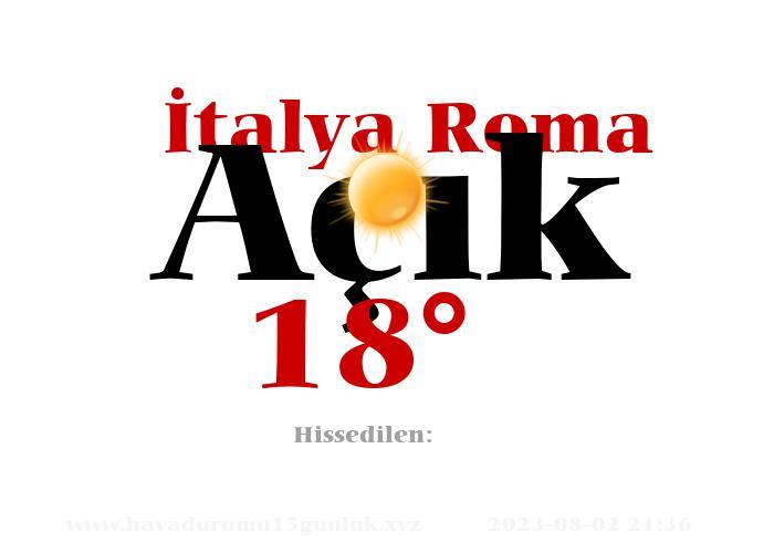italya-roma hava durumu