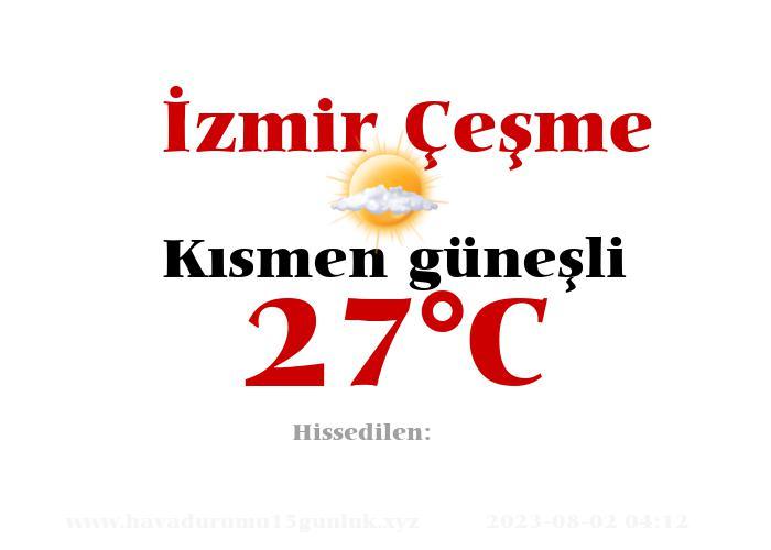 Hava Durumu İzmir Çeşme