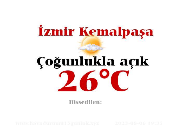İzmir Kemalpaşa Hava Durumu 15 Günlük