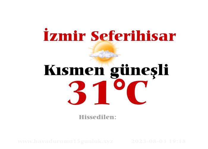 Hava Durumu İzmir Seferihisar