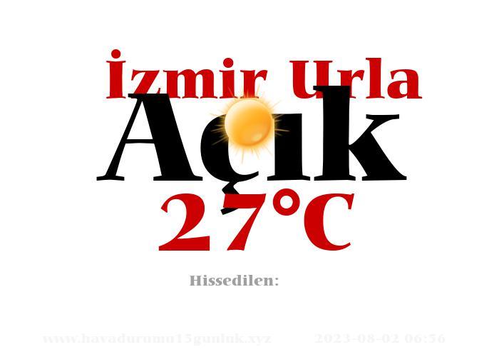 Hava Durumu İzmir Urla