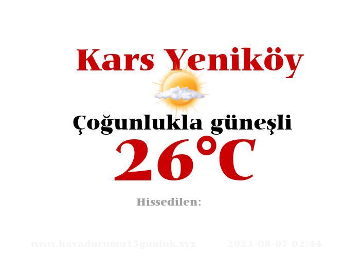 Hava Durumu Kars Yeniköy