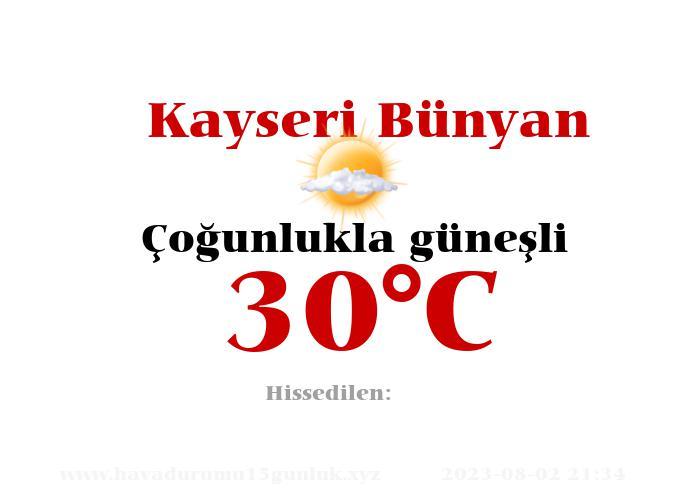 Hava Durumu Kayseri Bünyan