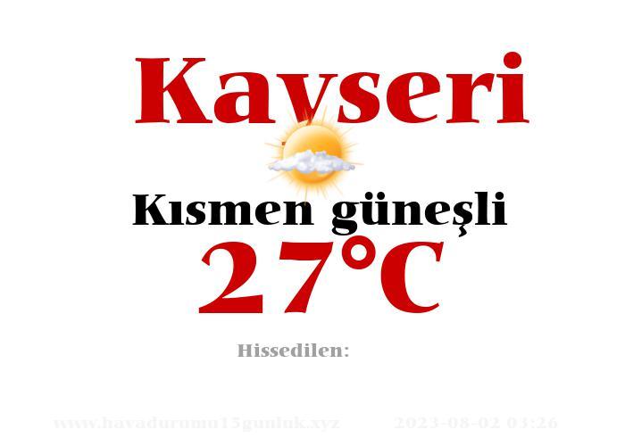 Hava Durumu Kayseri