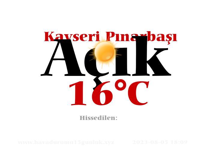 Hava Durumu Kayseri Pınarbaşı