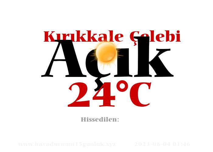 Hava Durumu Kırıkkale Çelebi