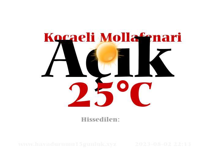 Hava Durumu Kocaeli Mollafenari