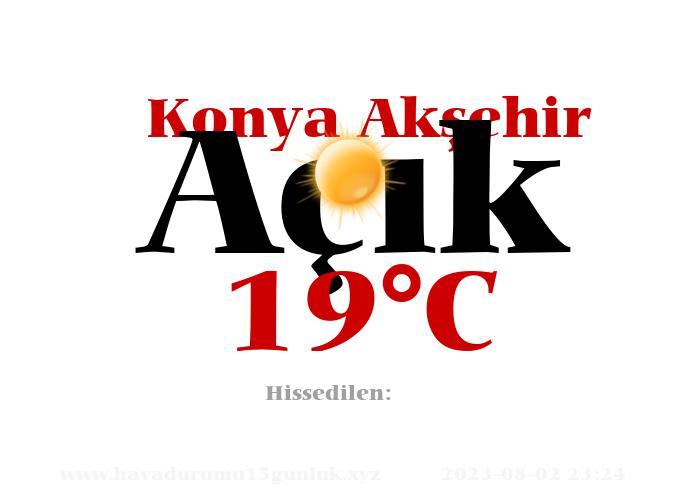 Hava Durumu Konya Akşehir