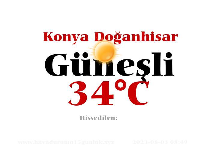 Hava Durumu Konya Doğanhisar