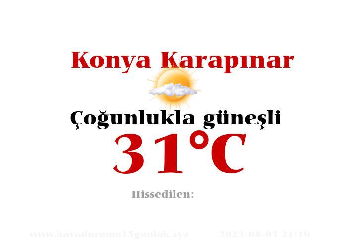 Hava Durumu Konya Karapınar