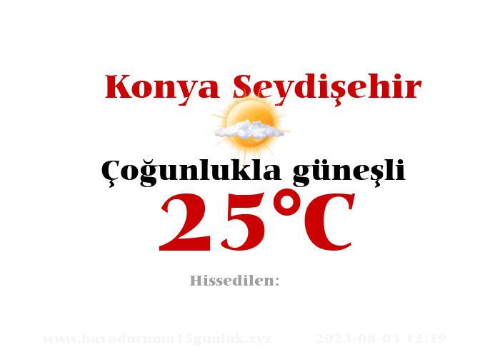 Hava Durumu Konya Seydişehir