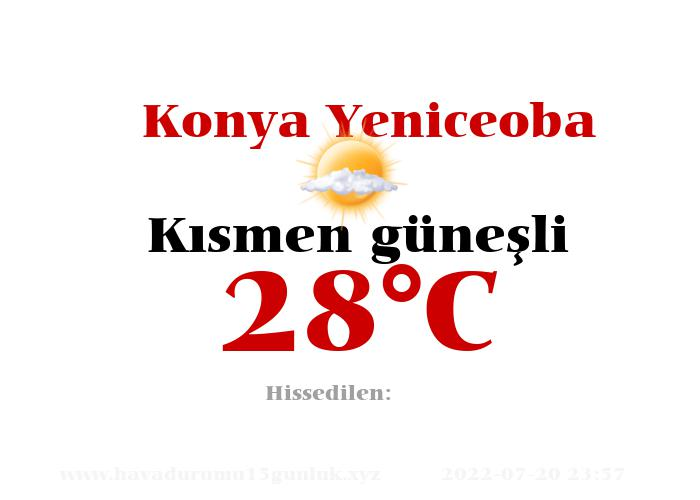 Hava Durumu Konya Yeniceoba