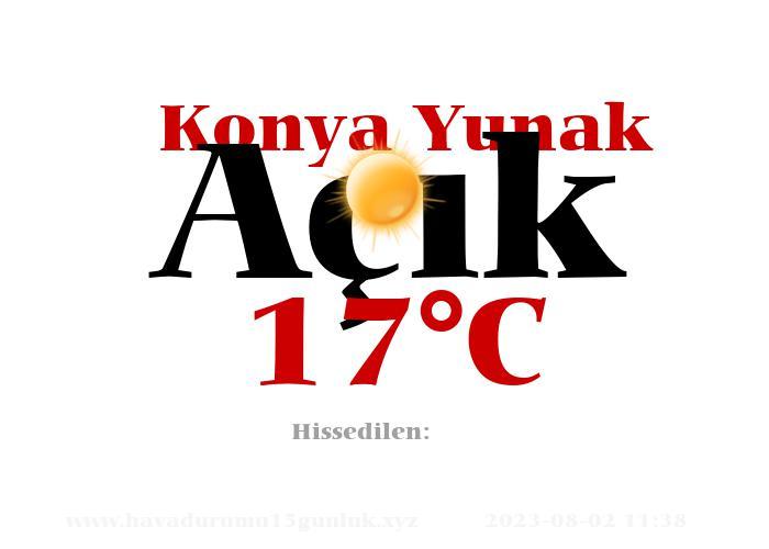 Hava Durumu Konya Yunak