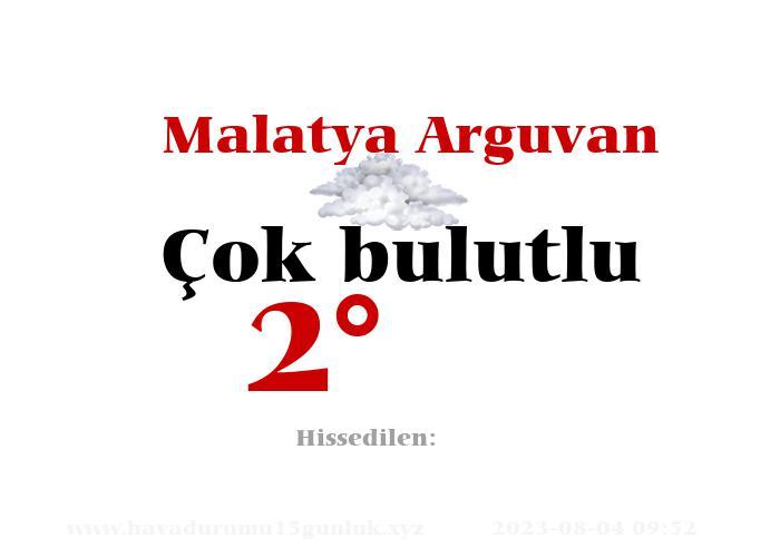 Malatya Arguvan Hava Durumu
