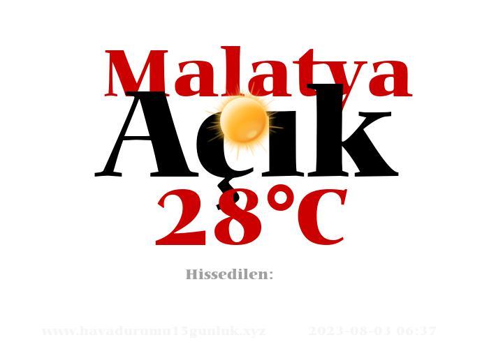 Hava Durumu Malatya