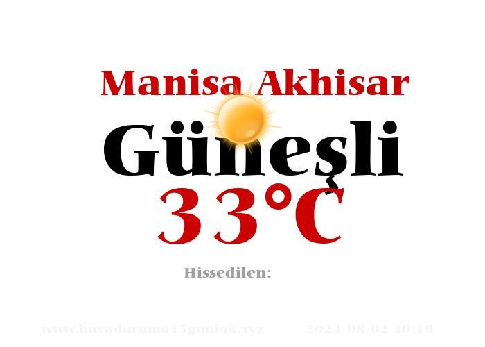 Hava Durumu Manisa Akhisar