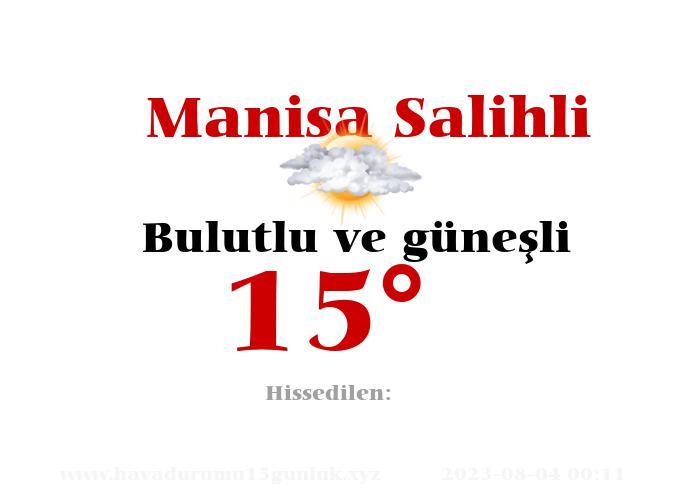 Manisa Salihli Hava Durumu