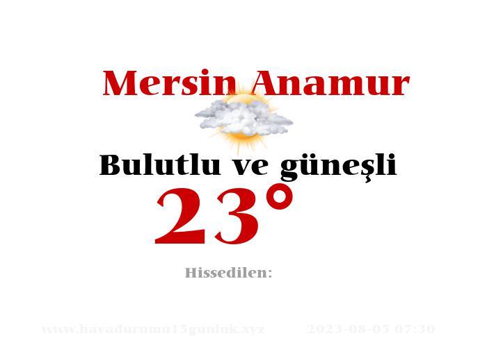 mersin-anamur hava durumu