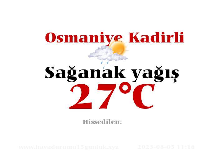 Hava Durumu Osmaniye Kadirli