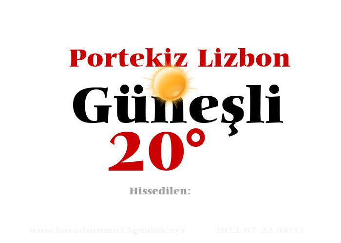 portekiz-lizbon hava durumu