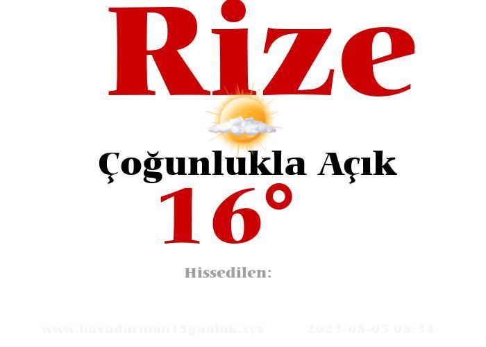 rize hava durumu