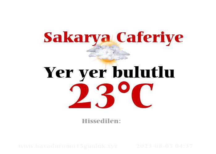 Hava Durumu Sakarya Caferiye