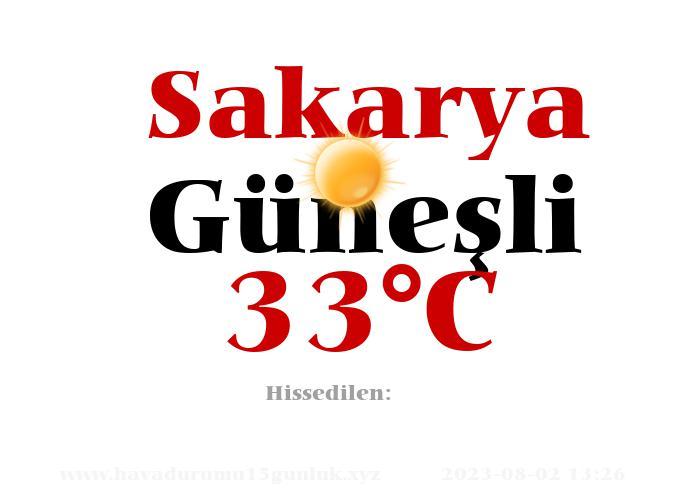 Hava Durumu Sakarya