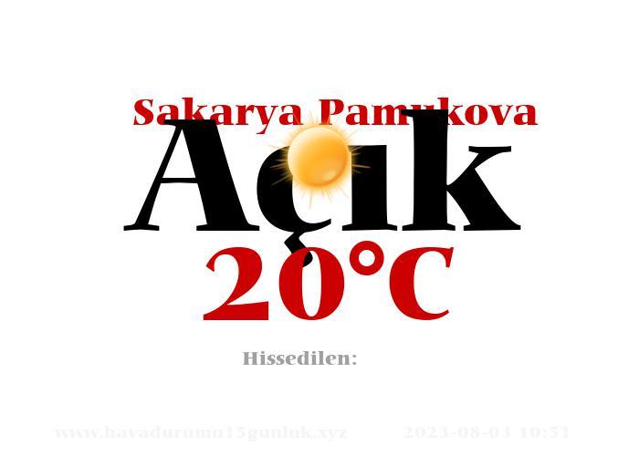 Hava Durumu Sakarya Pamukova