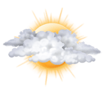 Bulutlu ve güneşli